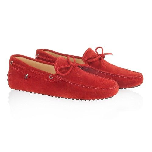 Tod's for Ferrari - Gommino Moccasins with Front Tie #fashion #madeinitay #ferrari #ferraristore