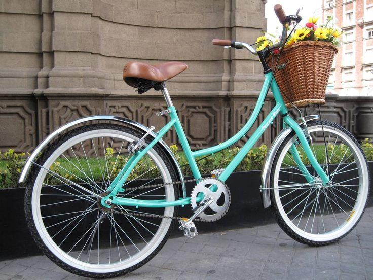 Bicicleta Retro Vintage R24 Mujer Verde