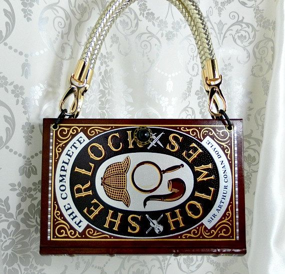 Sherlock Holmes Book Handbag UK Sherlock Book Bag by Bookarelli