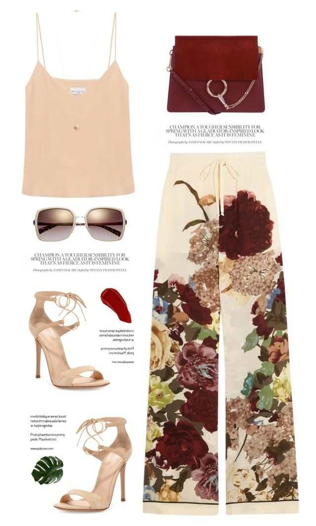 """..."" by yexyka ❤ liked on Polyvore featuring Valentino, Chloé, Raey, Ellis Faas, Gianvito Rossi and Dorothy Perkins"