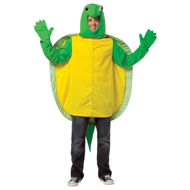 Turtle Costume - Adult, Men's, Green