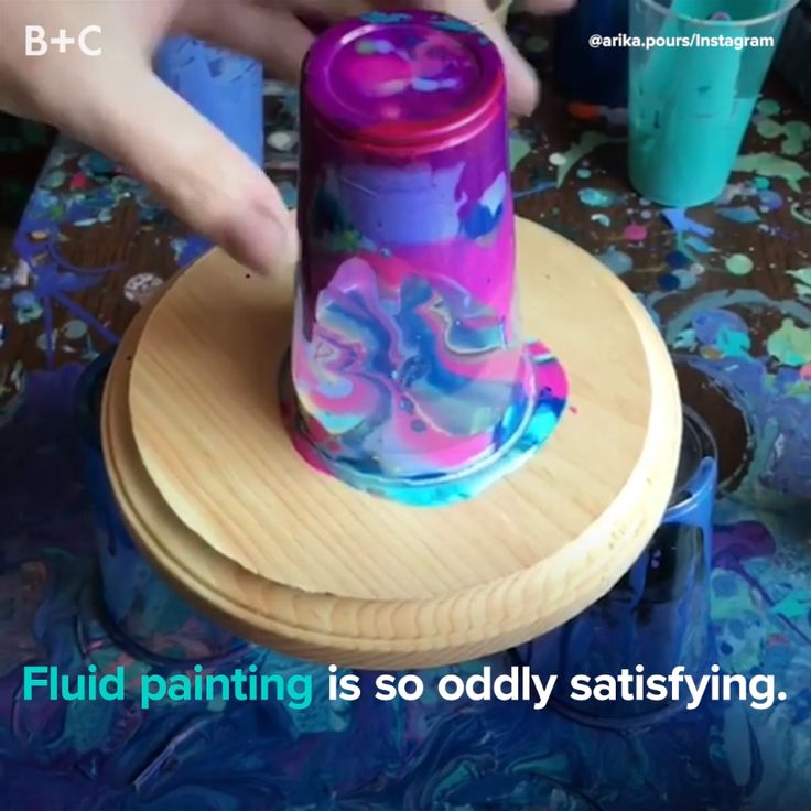 Get creative with fluid painting.