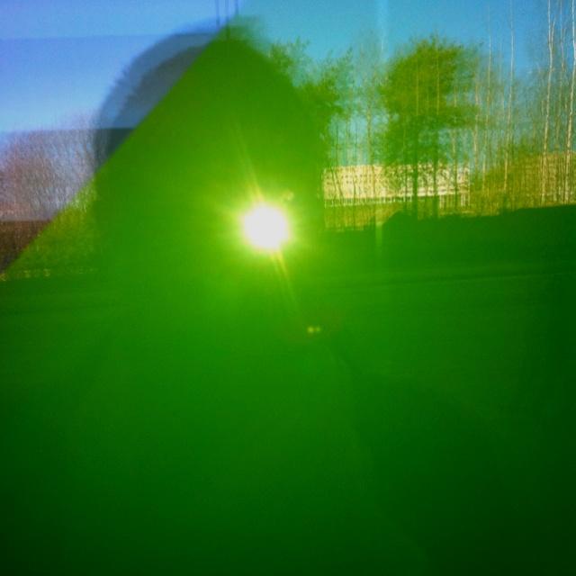 Self-portrait in green, Etera-House, Länsi-Pasila, Helsinki, Finland.