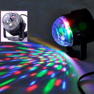 3W LED RGB Sound Control Magic Ball Effect Stage Lighting Disco Club DJ (US/EU Standard Plug)