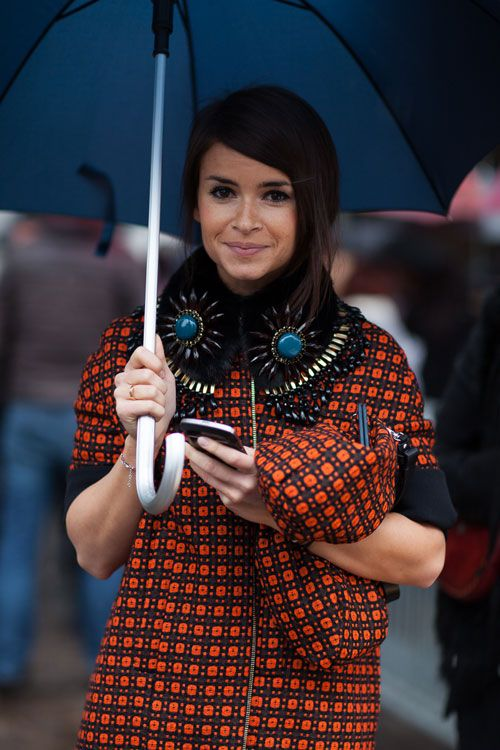 Street Style: Milan Fashion Week Fall 2013 - Miroslava Duma