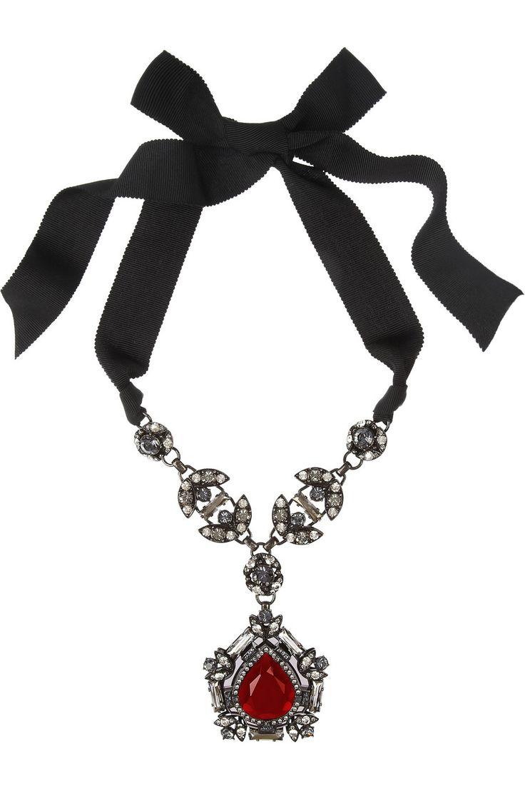 Lanvin|Crystal pendant necklace|NET-A-PORTER.COM