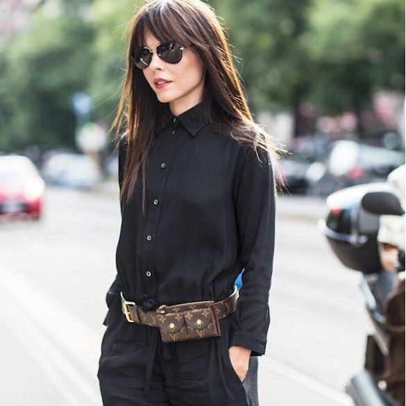 How To Accessorize Like A Street Style Star via @WhoWhatWear - oh, good, fanny packs are now stylish! (I'm being cheeky, but I actually do like this look)