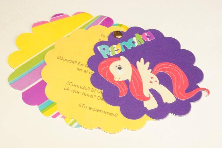 Invitación creativa de niña, temática My Little Pony