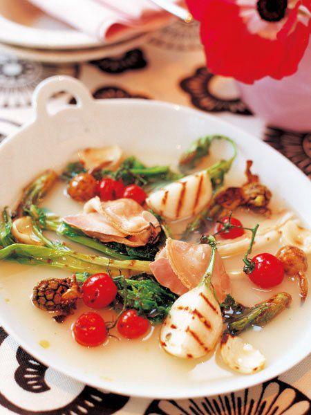 【ELLE a table】早春野菜のグリル、あつあつスープがけレシピ エル・オンライン