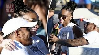 Lewis Hamilton cosies up to model Winnie Harlow as they soak up the sun in Mykonos  DAILY NEWS