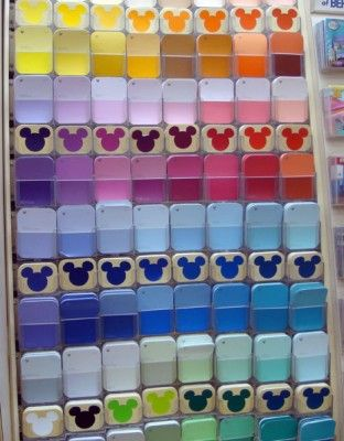 Not to self, must get Mickey head paint chips and turn them into a countdown calender!