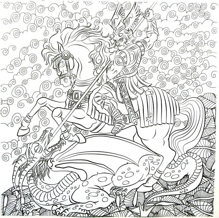 32 best Fantasy Coloring Book Pages for Adults images on Pinterest ...