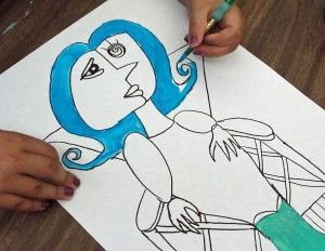 Picasso portraits. Step by step
