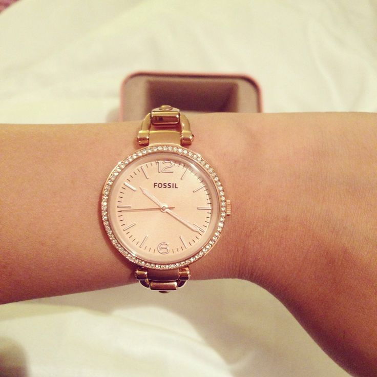 georgia rose gold fossil watch jelwery pinterest. Black Bedroom Furniture Sets. Home Design Ideas