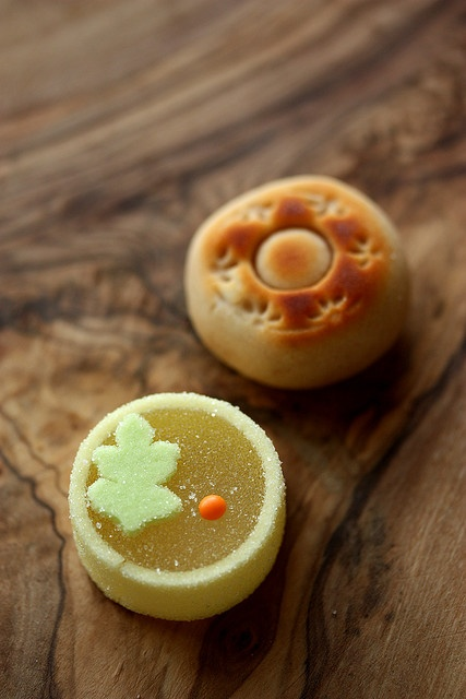mooncakes and gummies instead of cake. loljk. i love cake.