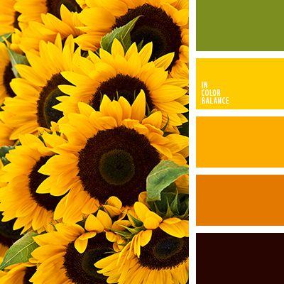 amarillo, amarillo cálido, amarillo limón, anaranjado cálido, anaranjado fuerte, colores de Ucrania, marrón sucio, naranja oscuro, negro, selección de colores, tonos anaranjados, tonos cálidos, verde, verde hoja.