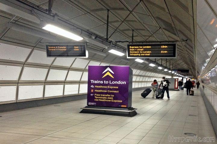 Der Heathrow Express ist ein Schnellzug der viertelstündlich von London Heathrow nach London Paddington in die Innenstadt fährt.
