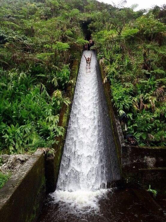canal water slide in bali.