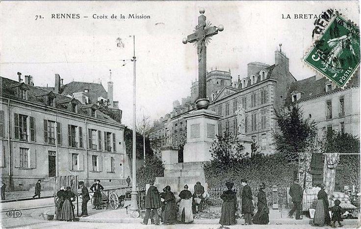 post card   Carte postale, Rennes, Cartes postales anciennes