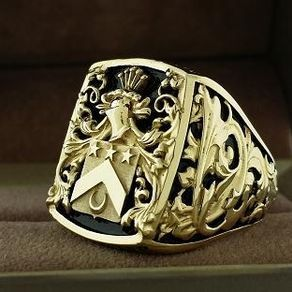 Mens Ring Crest Ring by Kay 3dheraldry