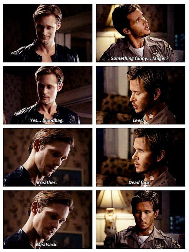 Eric Northman & Jason Stackhouse. HAHA! True Blood 5:12