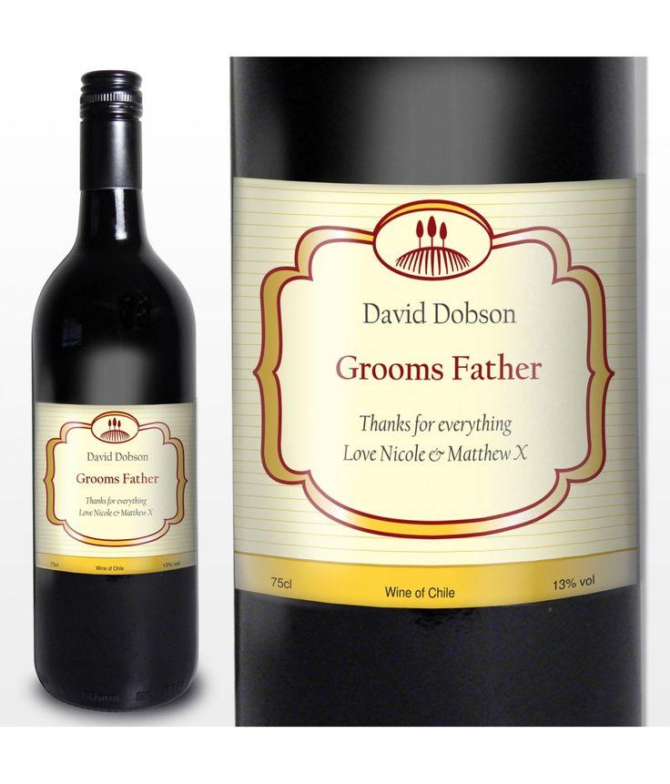 etichette vini pregiati | Red Wine Classic Label - Just for Gifts