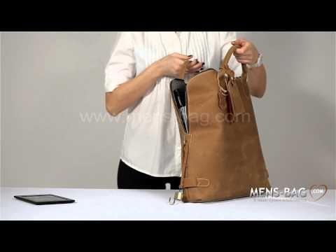 Мужская кожаная сумка Modern-19 - YouTube