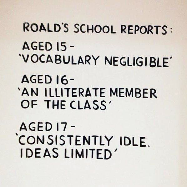 Roald Dahl: proof that you shouldn't let other people's negative opinions stop you from chasing your dreams! #roalddahlday #author #books #school #education #life #learning #dreams #dreamscometrue