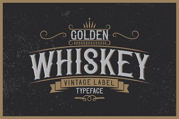 Golden Whiskey typeface by VintageMind on @creativemarket