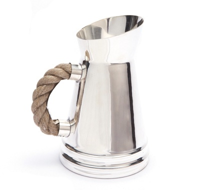 silver rope pitcher