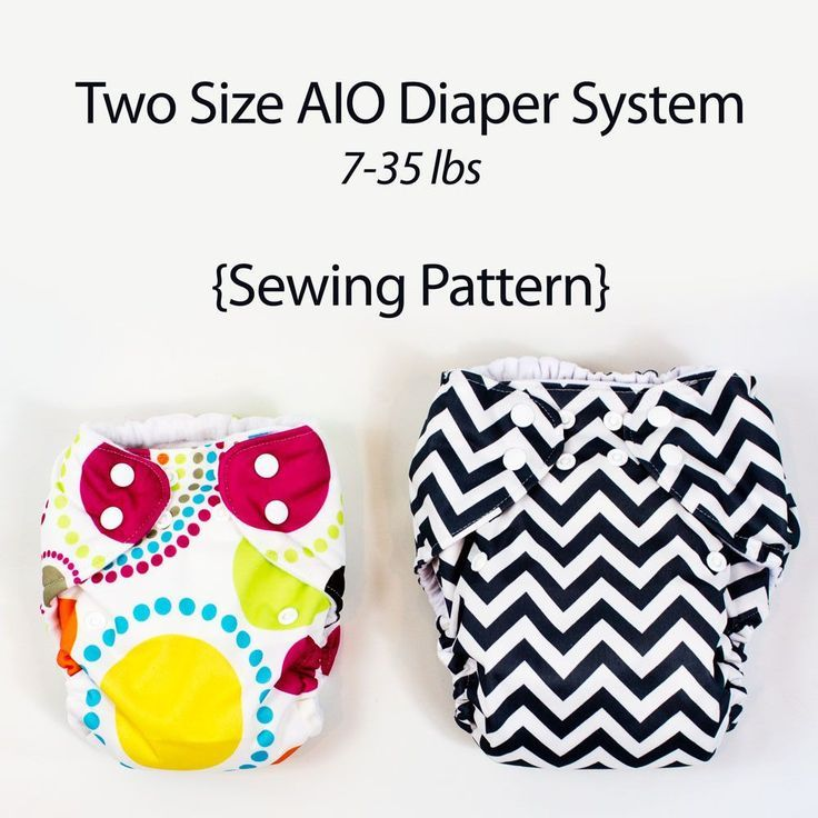 Sew a diaper system with this All In One Cloth Diaper Sewing Pattern Sewing your own AIO cloth diapers is fast and easy. Our 2 size, All in one cloth diaper pattern fits 7-35 lbs. The smal has one ris