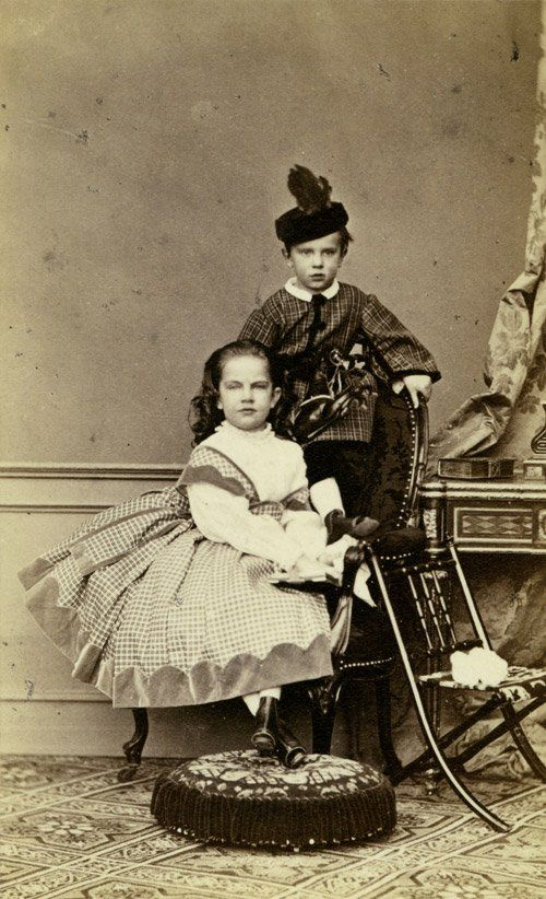 Children Gisela Louise Marie and Rudolf Franz Karl Joseph of  Elisabeth, Empress of Austria (1837 - 1898), Franz Joseph, Emperor of Austria (1830 - 1916)