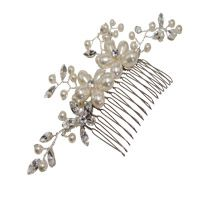 Bridal hair comb handmade with Swarovski Elements