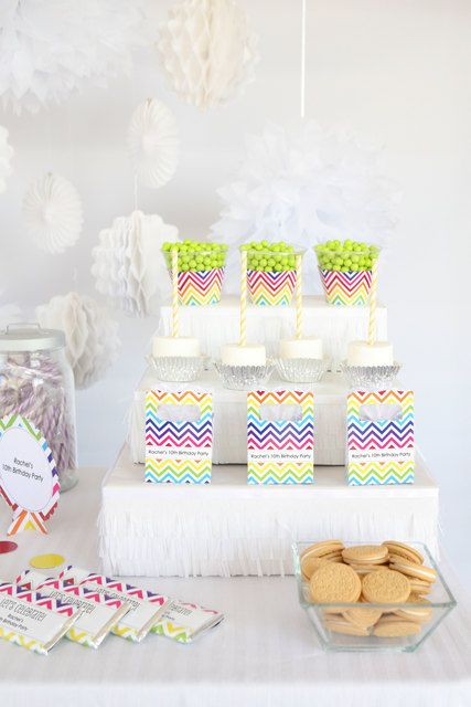 18 best images about chevron dessert table ideas on for Michaels crafts birthday parties