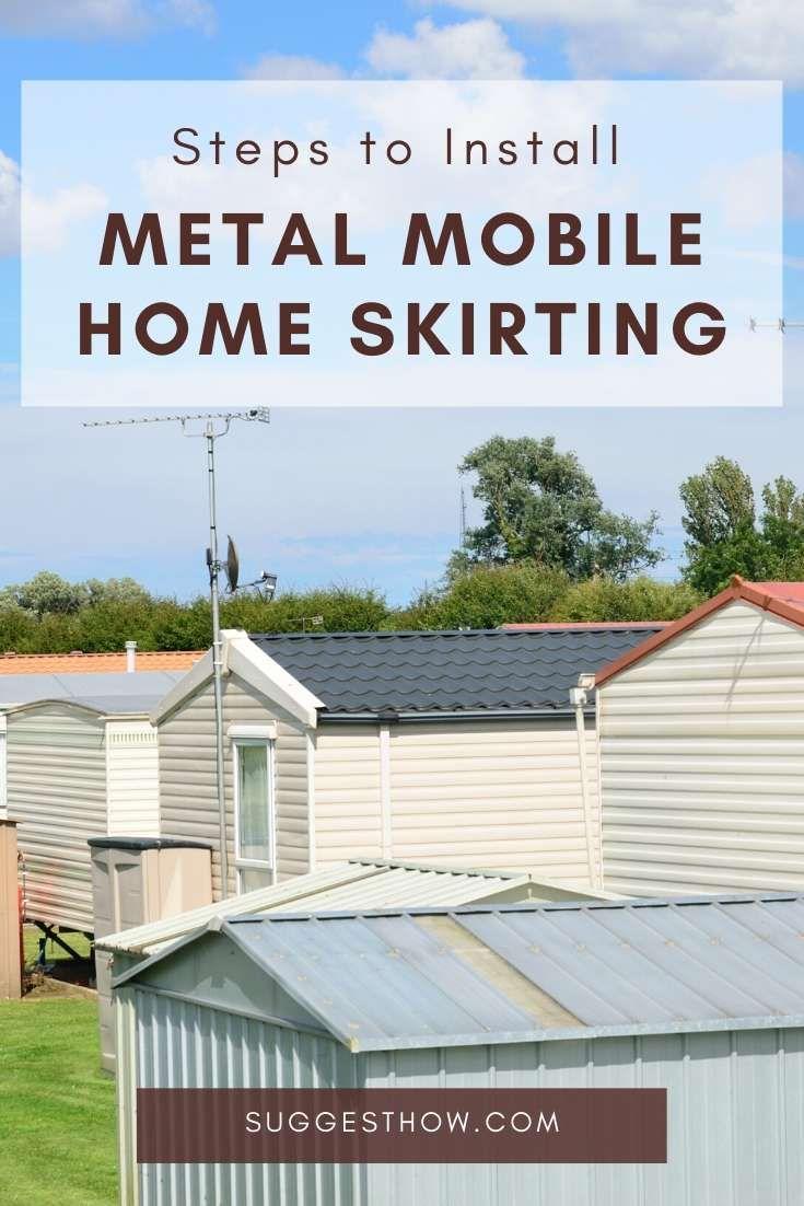 How to Install Metal Mobile Home Skirting   Mobile home ...