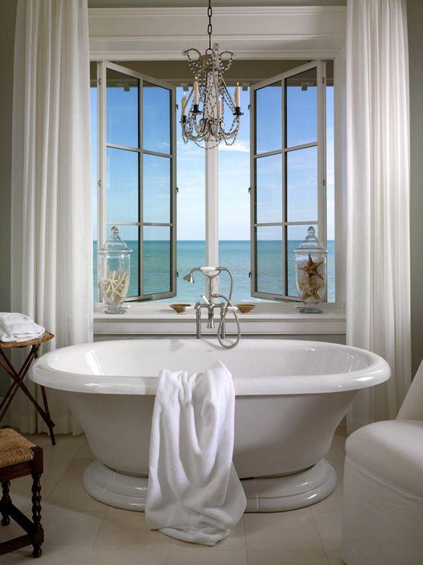 Bathroom Retreat! A Relaxing Bathroom Centered Around Kohler Tub.