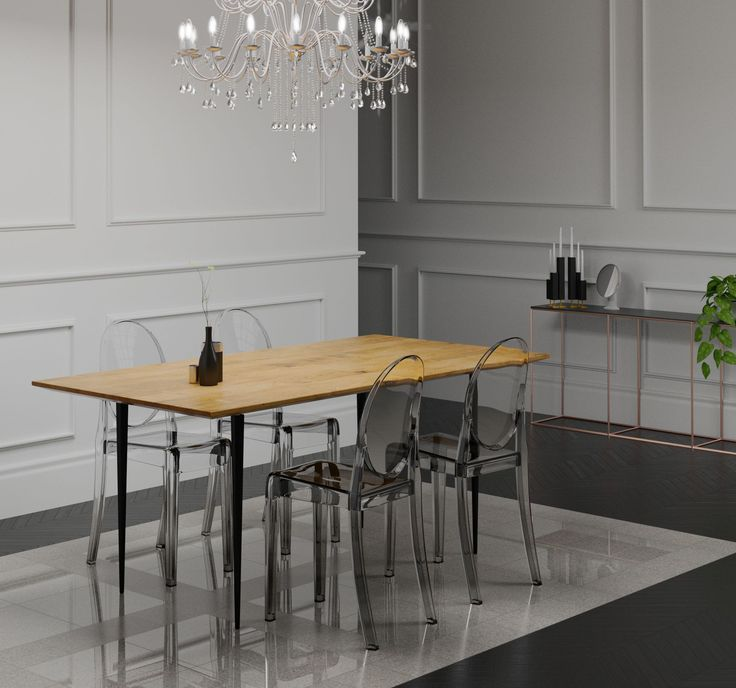 An amazing dining table with metal legs, Black Magic. A high quality piece of furniture with a simple, sophisticated design.