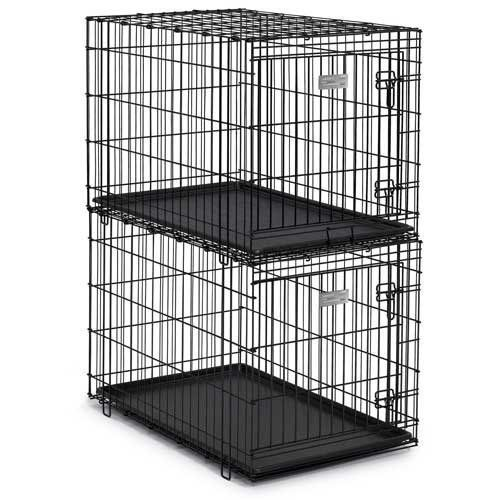 MidWest Solutions Stackable Folding Dog Crate - http://www.thepuppy.org/midwest-solutions-stackable-folding-dog-crate/