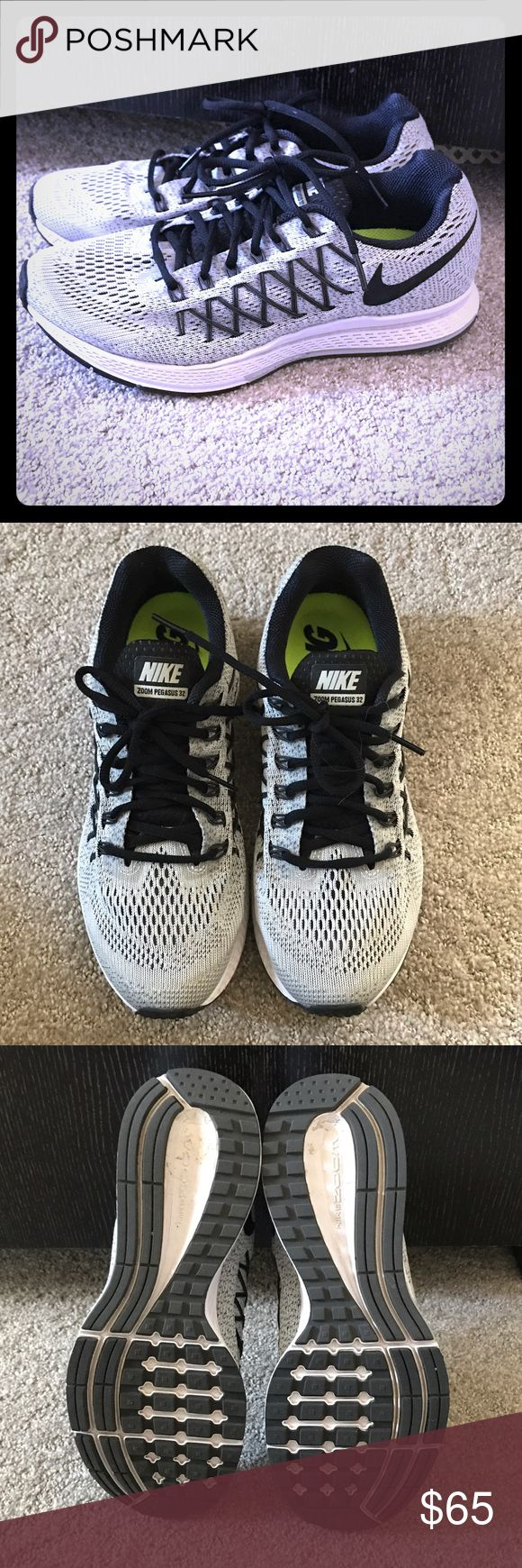 NIKE Zoom Pegasus 32 Sz 9 NIKE Zoom Pegasus 32 Sz 9. Perfect, new condition. Wore once for about 2 hours. Gray and black. Nike Shoes Athletic Shoes