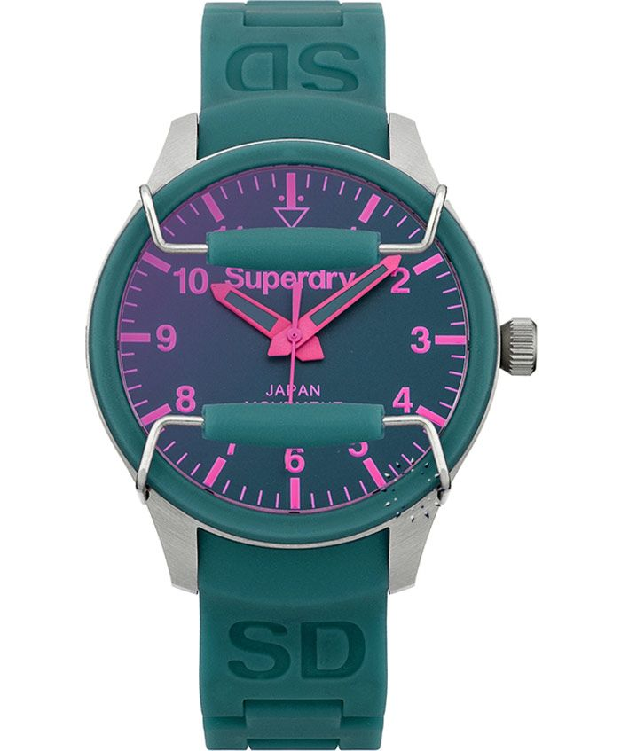 SUPERDRY Ladies Scuba Solar Green Rubber Τιμή: 89€ http://www.oroloi.gr/product_info.php?products_id=37025
