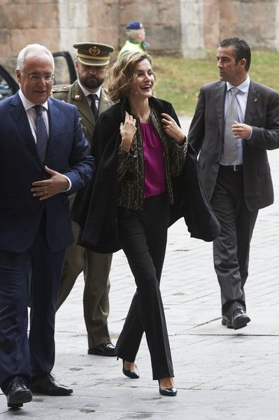 Royals & Fashion - Queen Letizia attended a seminar on language and journalism which was held in a monastery in San Millan de Cogolla