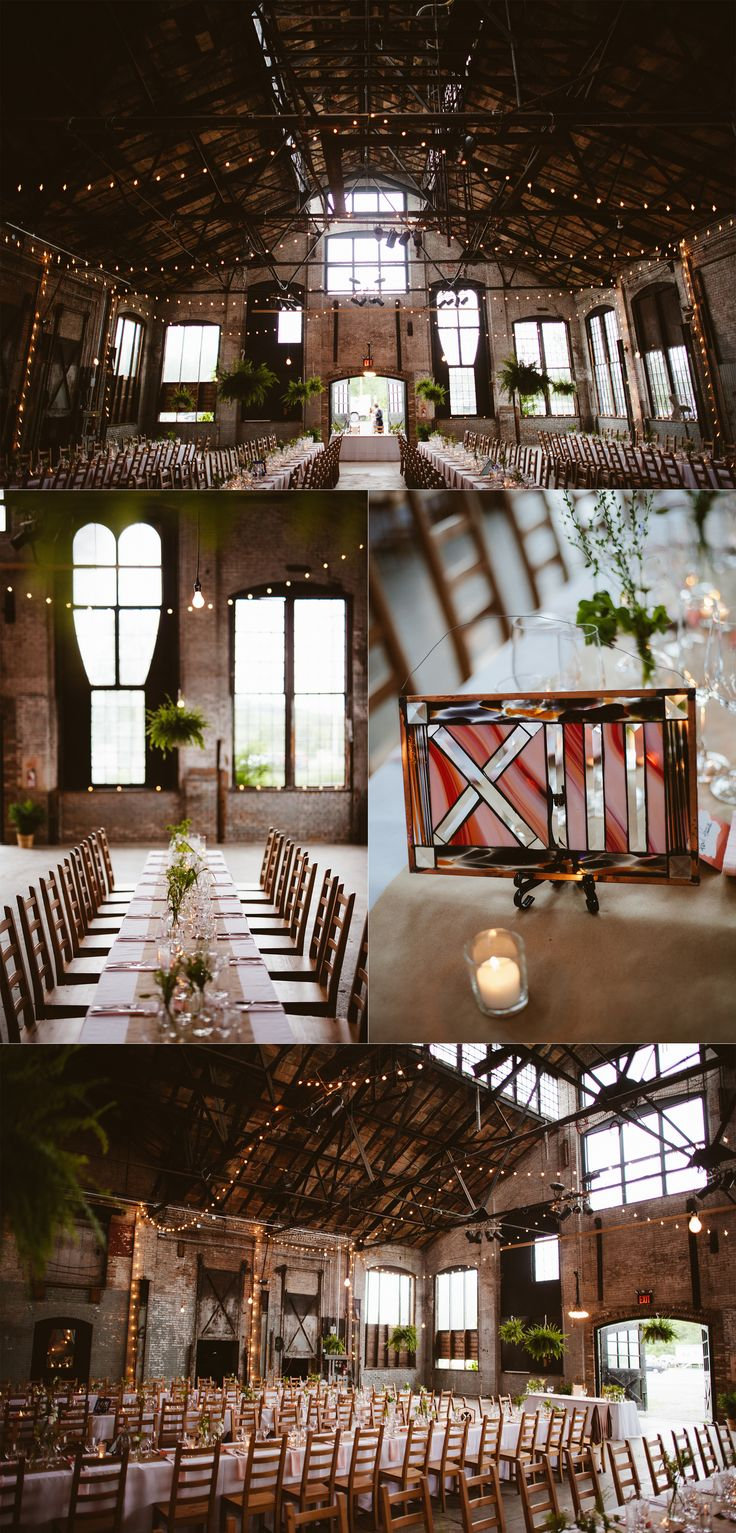 The industrial feel of the the building itself has remained through renovations, sporting exposed brick walls, an incredible old steel truss system and a massive terracotta ceiling.