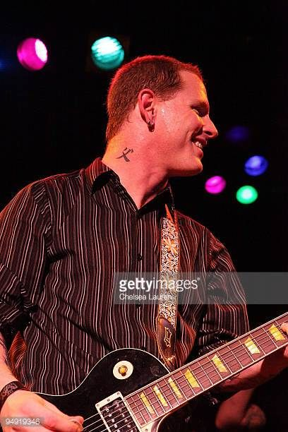 Musician Corey Taylor performs with Camp Freddy at The Roxy on December 18 2009 in Los Angeles California