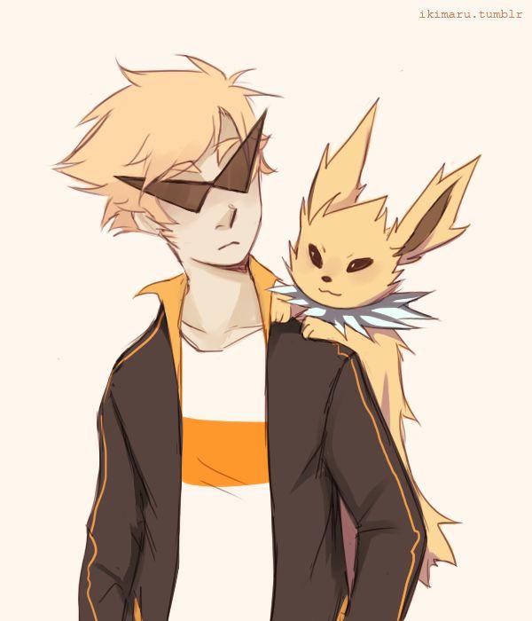 Dirk with a Jolteon: Homestuck x Pokémon | Art by ikimaru ...