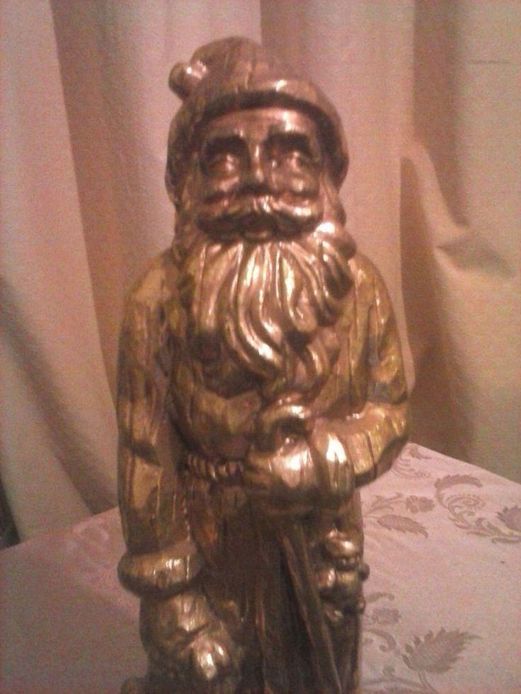 St Nicholas, Christmas Gold Figurine