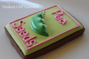 Seed packet - Peas! Cookies by Yankee Girl Yummies