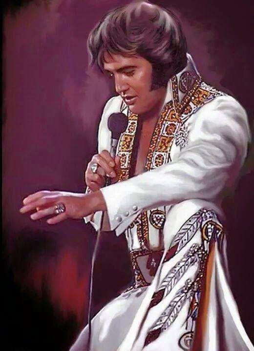 Pin by Vincente Rumore on Elvis Fan | Pinterest  |1977 Elvis Painting