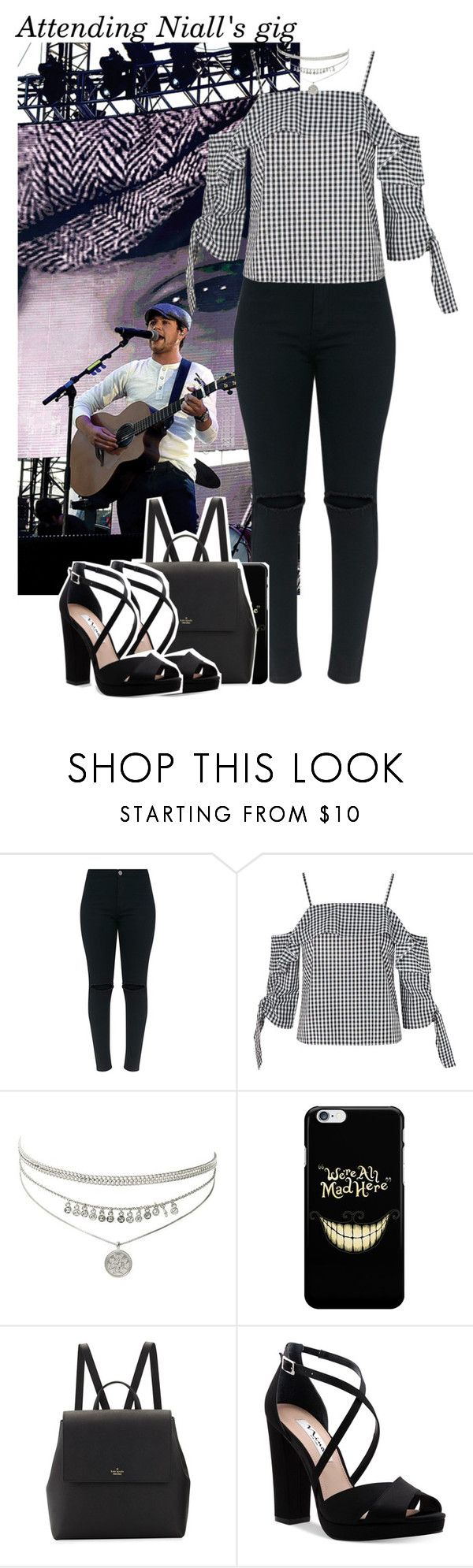 """982 • Attending Niall's gig"" by queenxxbee ❤ liked on Polyvore featuring Justin Bieber, Topshop, Kate Spade, Nina, OneDirection and NiallHoran"