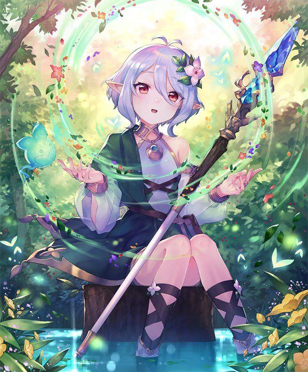 Card: Kokkoro, Faithful Guide | Anime elf, Anime princess, Anime art girl