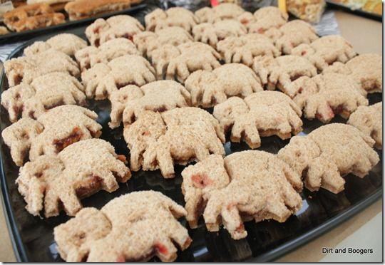 Zoo Party Food Ideas - Elephant Sandwiches